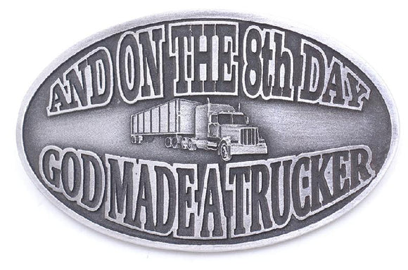On the 8th Day Trucker Buckle - JD093