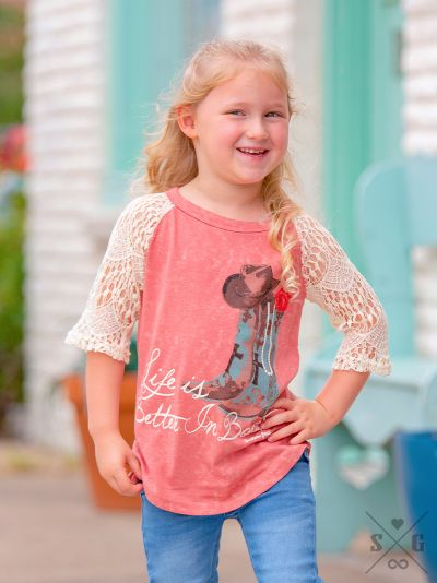 Southern Grace Better In Boots Raglan - K3235C