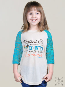 "Southern Grace ""Raised On Country Sunshine"" Tee - K3368"