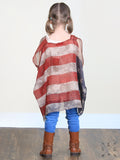 Grace & Emma Girls Stars and Stripes Vintage Vest - KSS1235