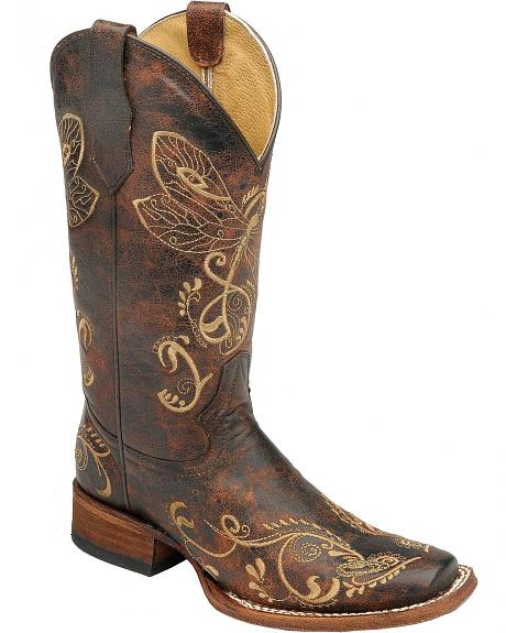 Circle G Dragonfly Boots - L5079