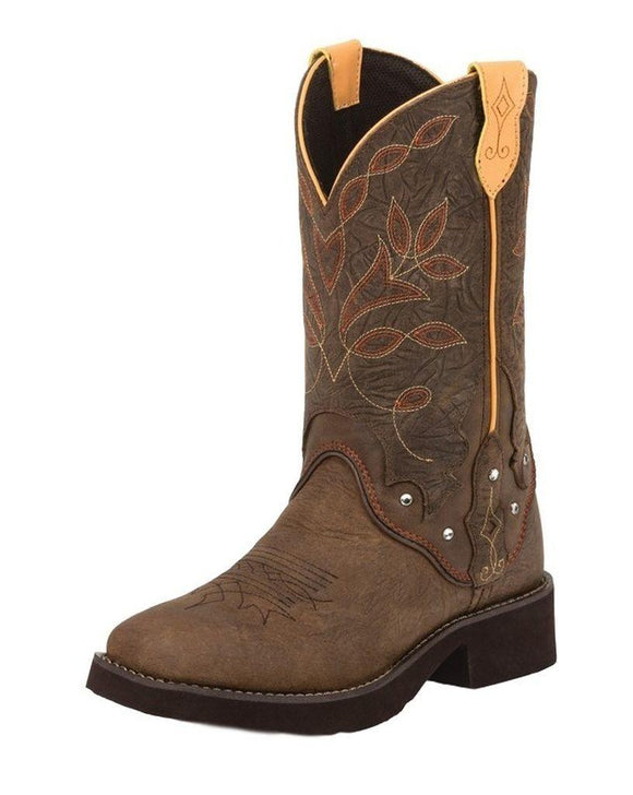 Justin Gypsy Brown Barnwood Boots - L9643