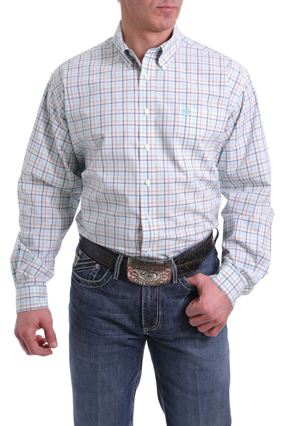 Cinch Plaid Button Down Shirt - MTW1104985