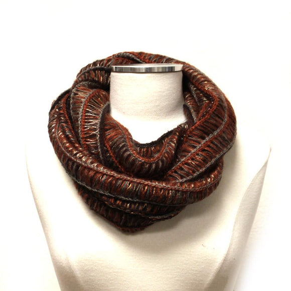 Soft Knit Infinity Scarf  MW12065OR