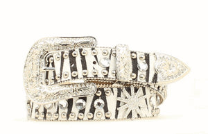 Blazin Roxx Black and White Zebra Belt - N3510662