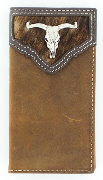 Nacona Deer Skull Youth Rodeo Wallet - N5437644