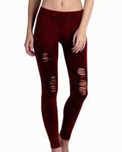 Vintage Destroyed Leggings - 6563