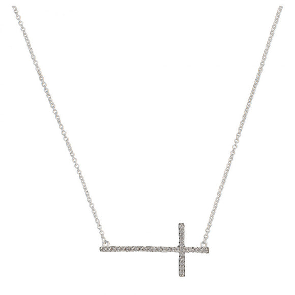 Montana Silversmiths The Straight Path Cross Necklace - NC2015CZ