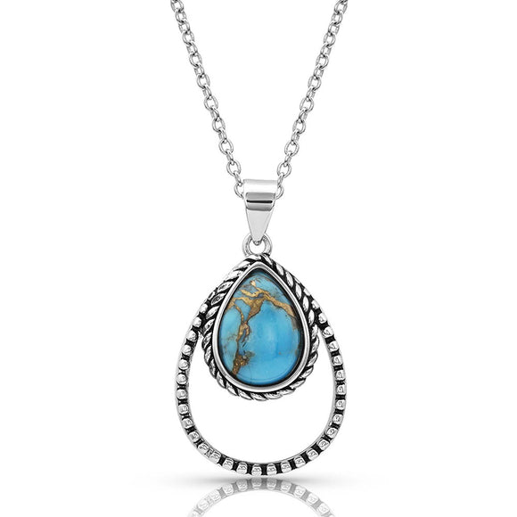 Montana Silversmiths Double Rope Turquoise Necklace - NC4376TQ