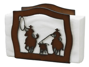 Rustic Iron Team Roper Napkin Holder
