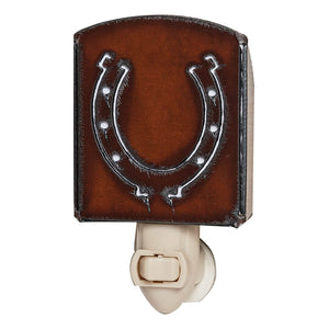 Rustic Iron Horseshoe Nightlight