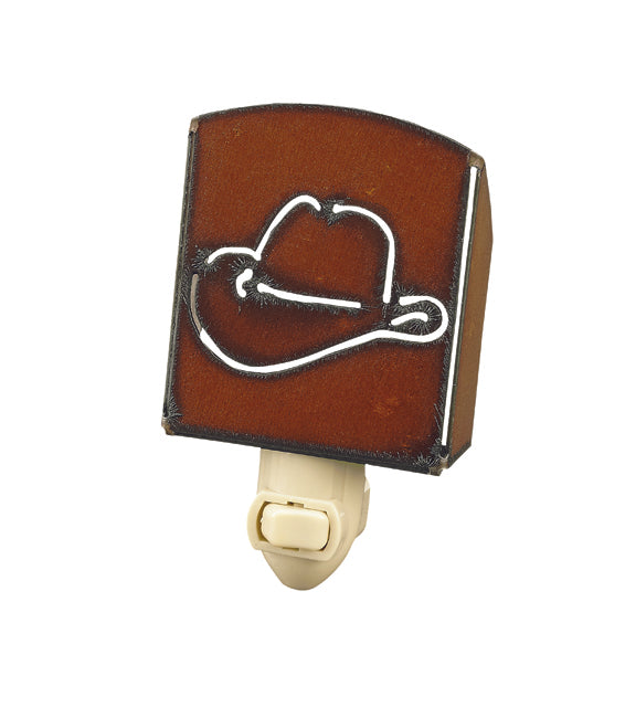Rustic Iron Cowboy Hat Nightlight