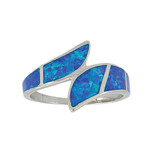 Montana Silversmiths River of Lights Dueling Waves Opal Ring - RG58CZ