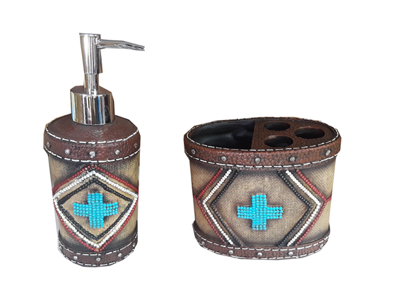Natural Aztec Bathroom Set     RSM-1879