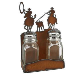 Rustin Iron Team Roper Salt & Pepper Set