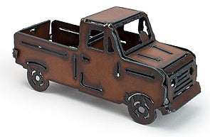Rustic Iron Metal Truck Keepsake