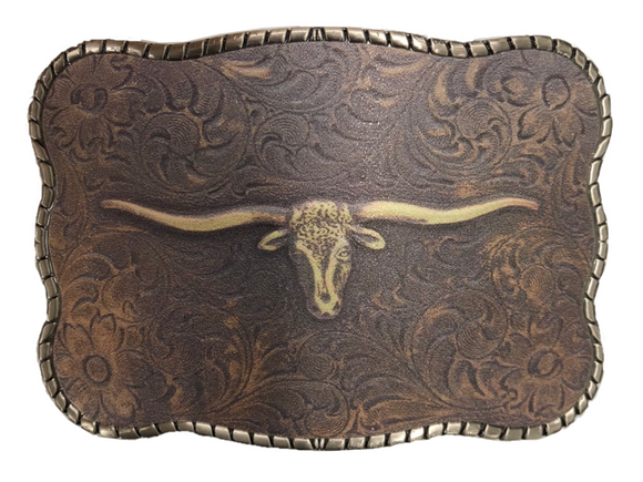 Wallet Buckle Vintage Gold Longhorn