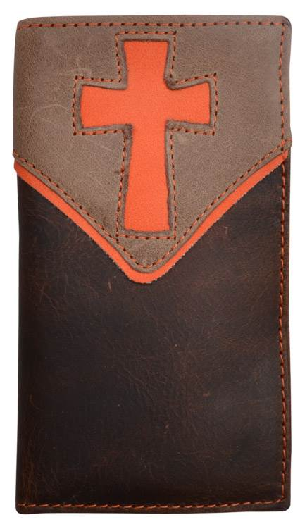 Youth Orange Cross Rodeo Wallet - DW1049