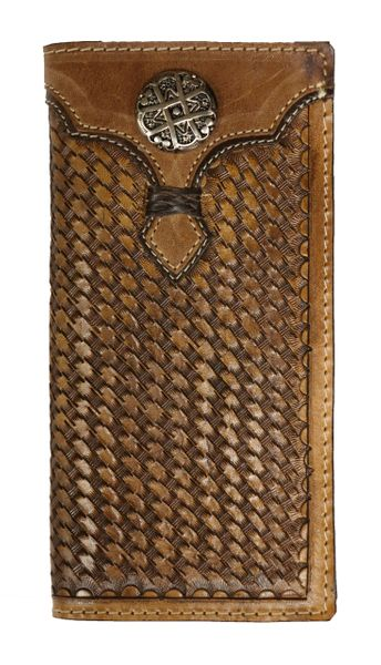 Rockin Leather Tooled Rodeo Wallet - W29