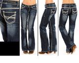 Rock and Roll Cowgirl Boot Cut Jeans  W7-9516
