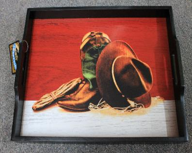 Montana Silversmiths Boots and Hat Serving Tray - WD159