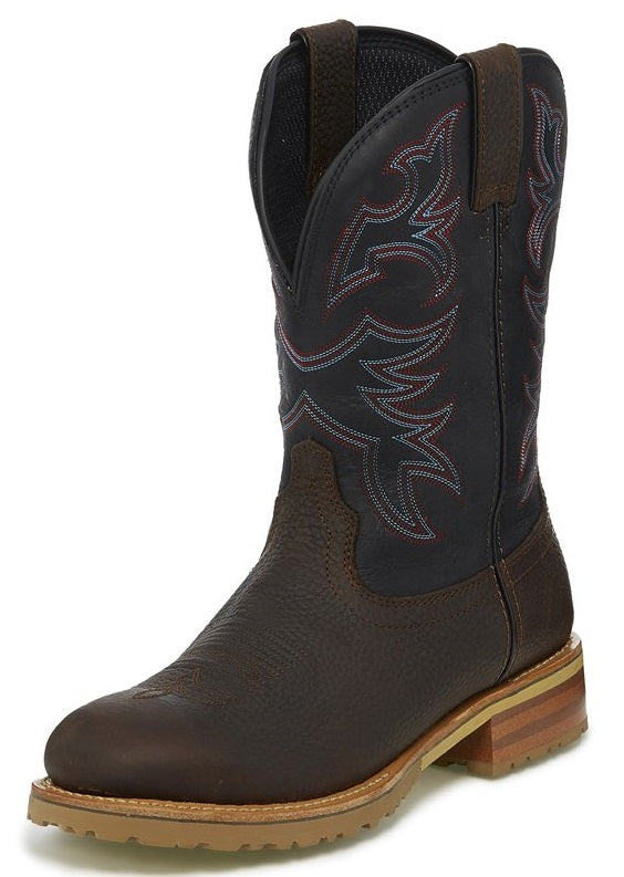 Justin The Range Herdsman Midnight Black Waterproof Workboot - WK4207