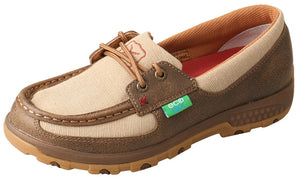 Twisted X Womens Boat Shoe Driving Moc With CellStretch - WXC0003