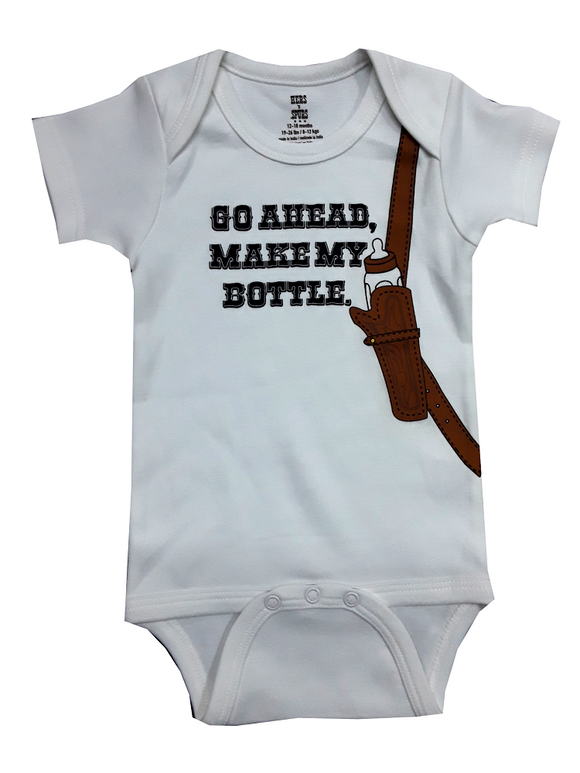 Hers & Spurs Make My Bottle Onesie - WZMMB