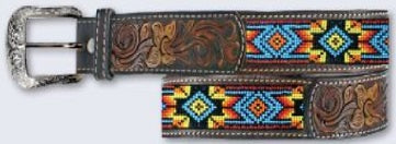 Twisted X Southwest Beaded Belt-XIBB100