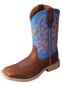 Twisted X Hooey Youth Boots - Cognac Shoulder/Neon Blue