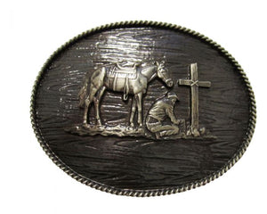 AndWest Iconic Praying Cowboy Buckle - IC006