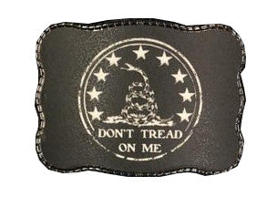 Wallet Buckle B&W Don't Tread On Me