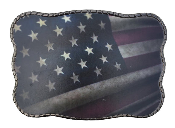 Wallet Buckle Waving American Flag