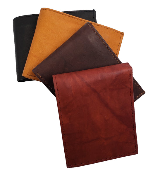 AG Wallets Mens 3 ID Wallet Cowhide Leather Bifold Multi Card Holder