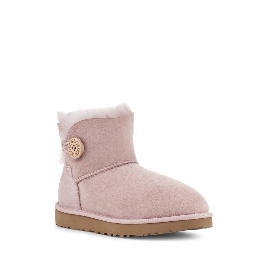 Women's UGG® Mini Bailey Button II in Pink Crystal
