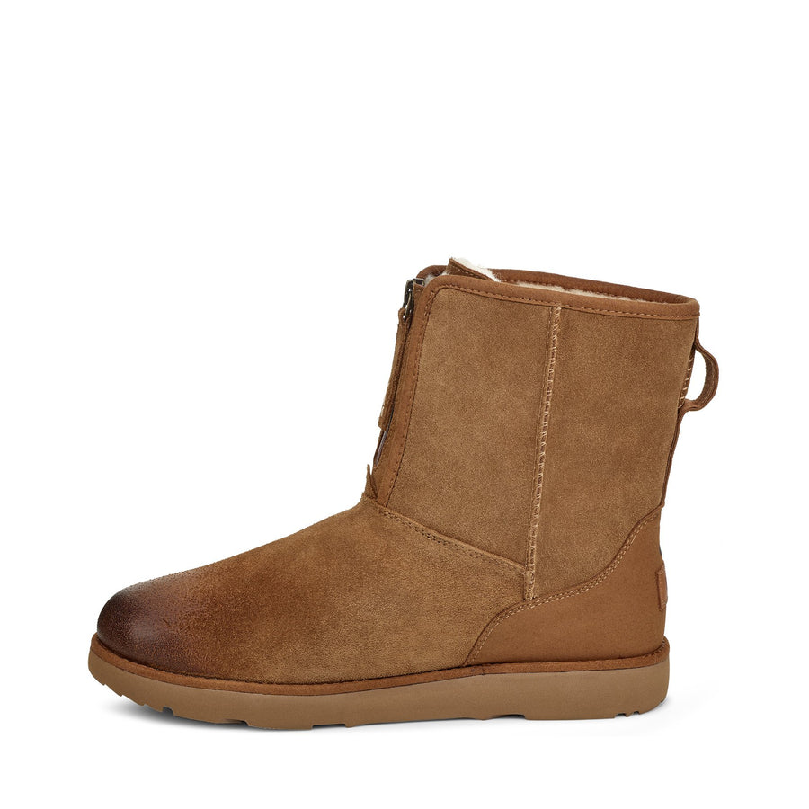 Men's UGG® Classic Short Front Zip Waterproof Boot in Chestnut