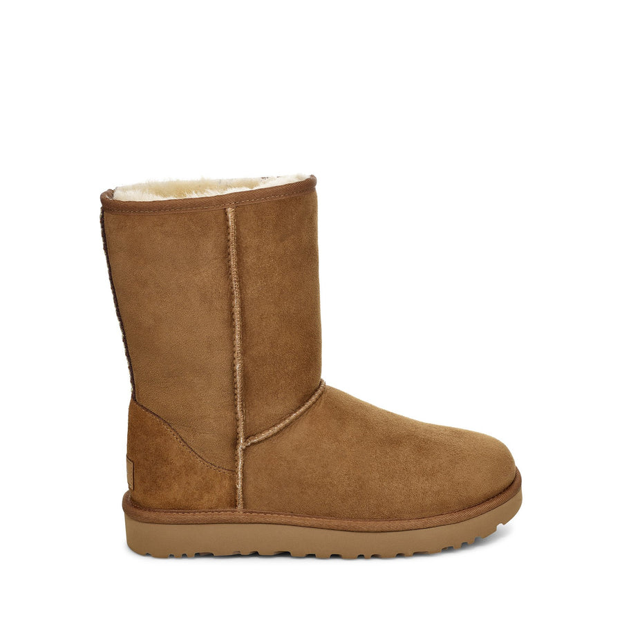 Women's UGG® Classic Short II Tasman Braid Boot in Chestnut