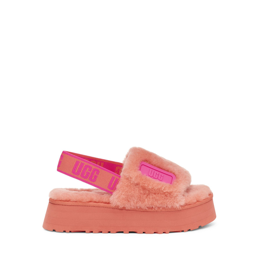 Women's UGG® Disco Slide in Vibrant Coral