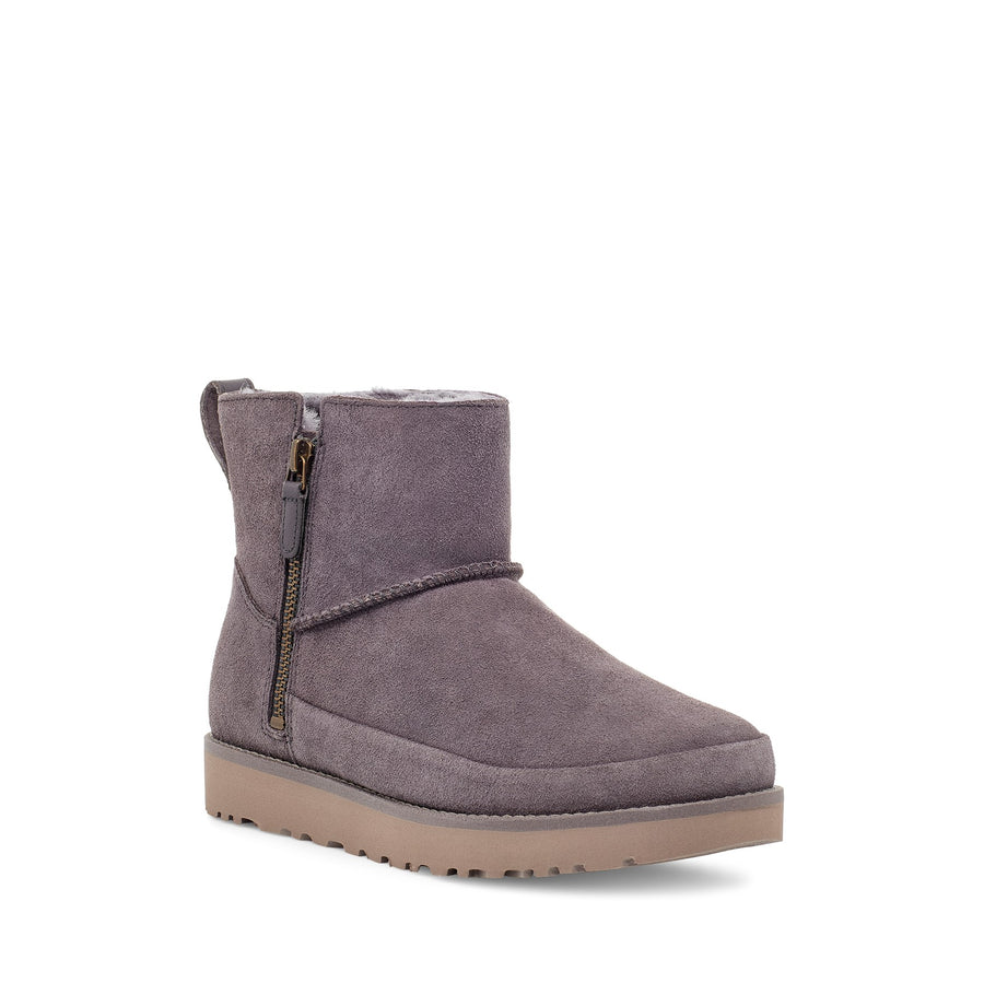 Women's UGG Classic Zip Mini Boot in Nightfall