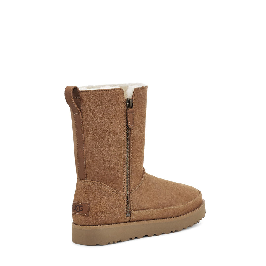 Women's UGG Classic Zip Short Boot in Chestnut