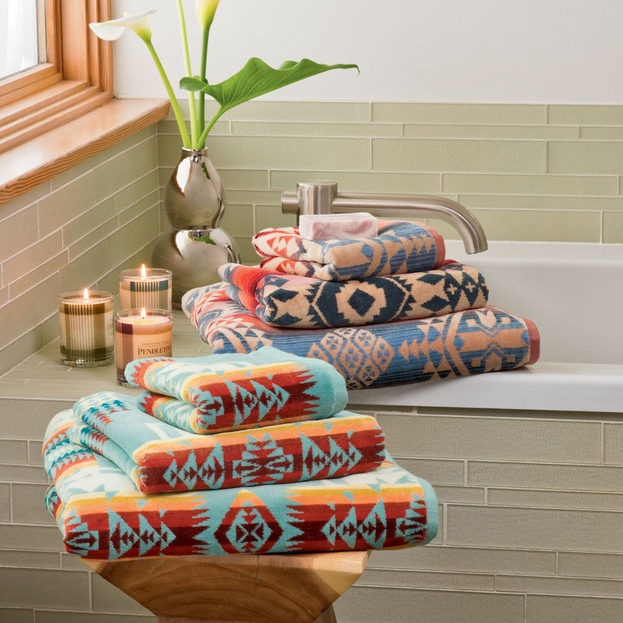Pendleton Chief Joseph Bath Towel in Aqua