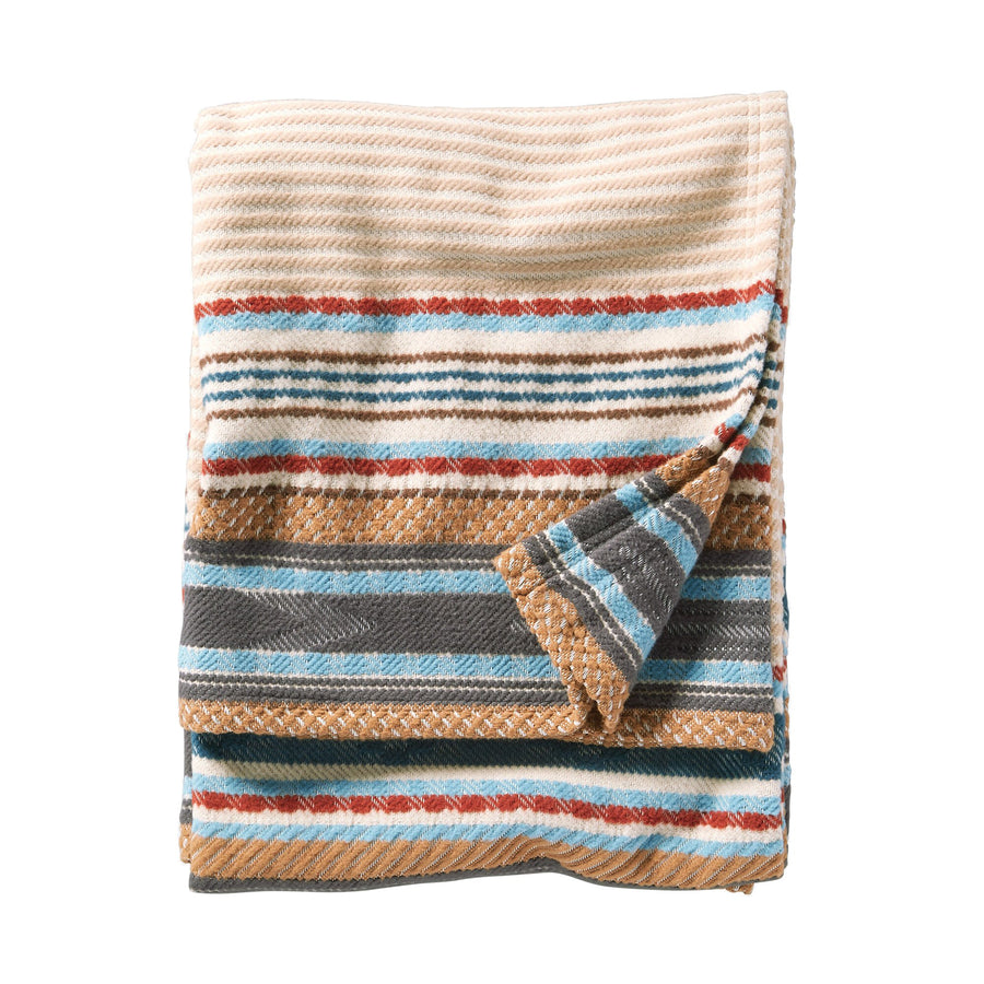 Pendleton Camel Escalante Ridge Organic Cotton Blanket