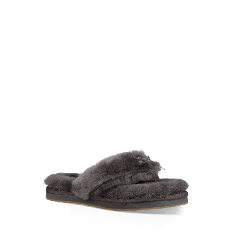 Women's UGG® Fluff Flip Flop III Slipper in Grey