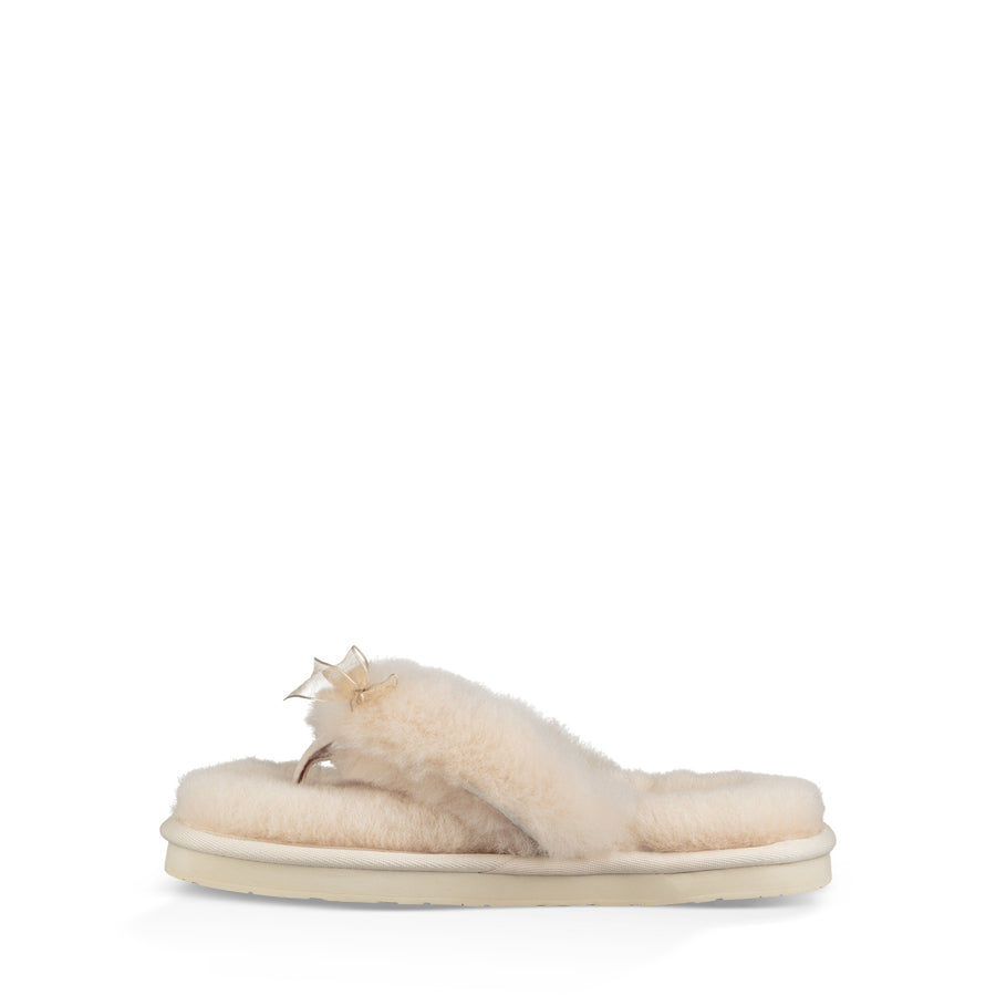 Women's UGG® Fluff Flip Flop III Slipper in Natural