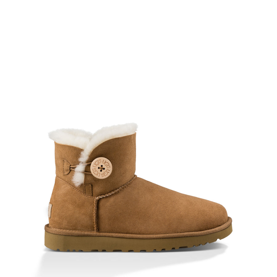 Women's UGG® Mini Bailey Button II in Chestnut