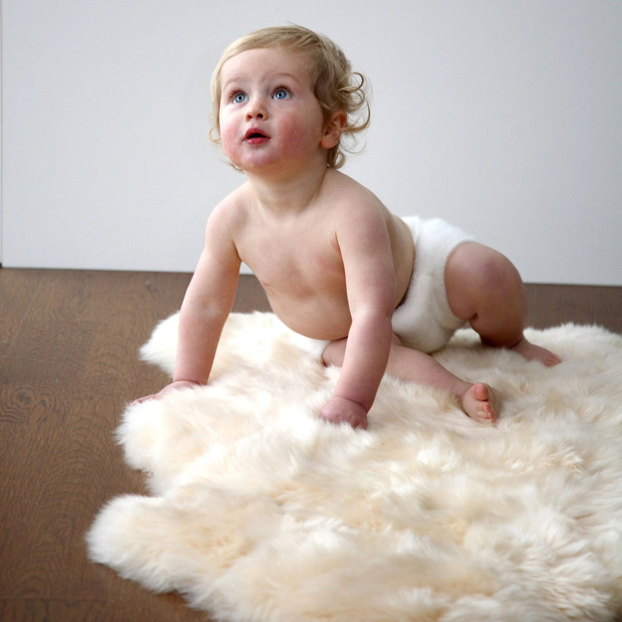 Infantcare Sheepskin Rug in Long Hair by Auskin