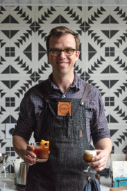 Sam Schroeder, Olympia Coffee co-owner and 1st place winner of the first ever Coffee In Good Spirits competition.