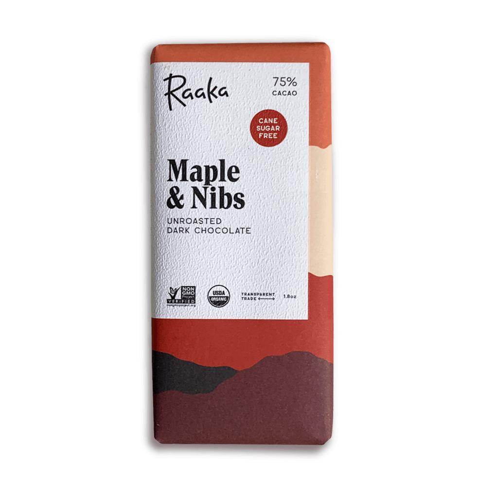 Maple and Nibs Chocolate Bar