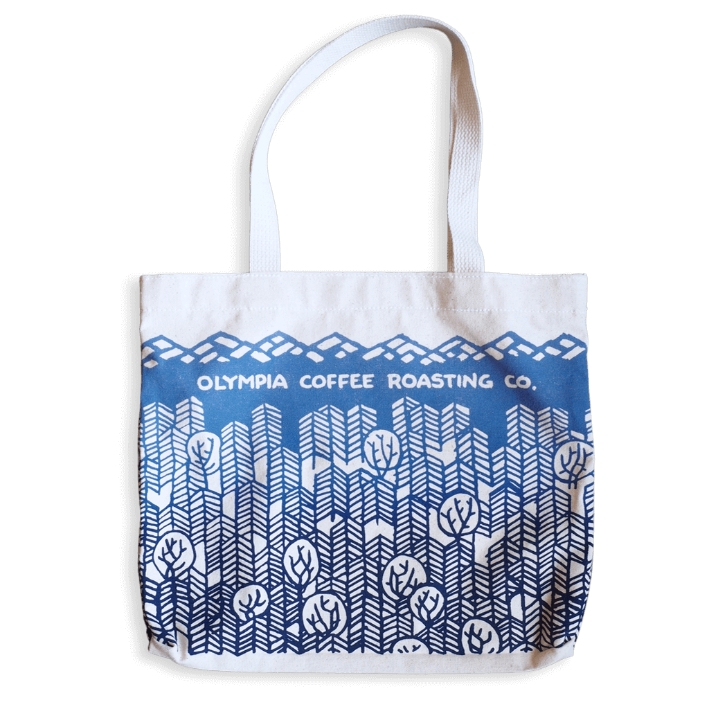 Olympia Coffee Hand Printed  Tote