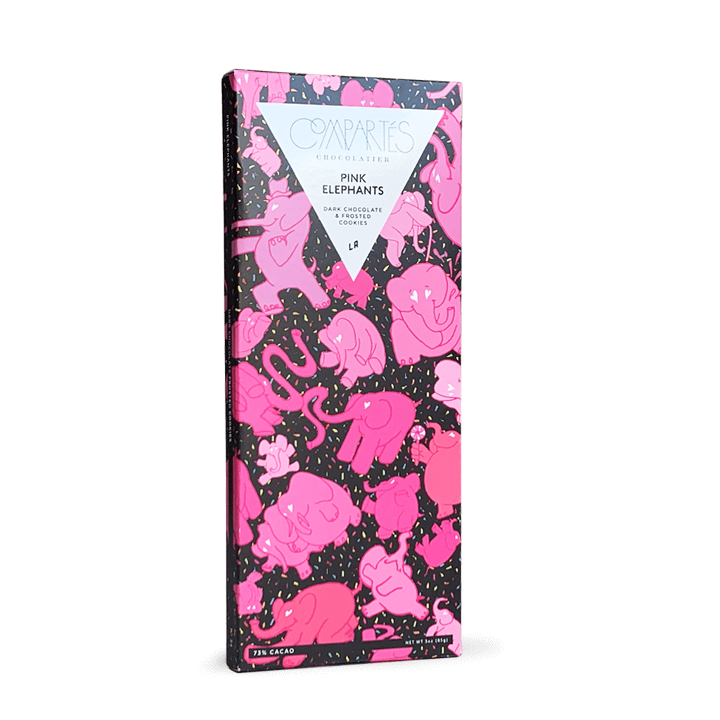 Compartes Chocolate Pink Elephant Dark Chocolate